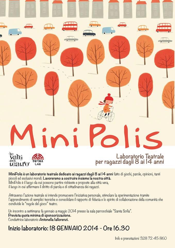 La locandina dell'evento MiniPolis organizzato a Satriano di Lucania