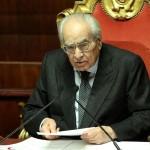 Emilio Colombo il 16 marzo 2013 al Senato