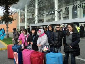 Gli alunni Vietresi prima della partenza a Napoli