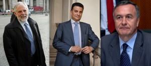 Giampaolo D'Andrea, Vito De Filippo e Filippo Bubbico: sono i tre lucani che fanno parte del Governo Renzi