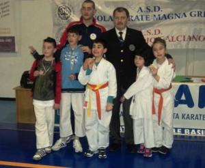 Gli alteti della Bushido Karate Club a Bernalda