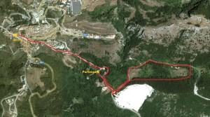 Il percorso della maratona a Castelgrande