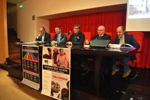 Un momento della conferenza stampa di presentazione
