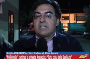 Sergio Annunziata durante intervista ad Italia 2 Tv