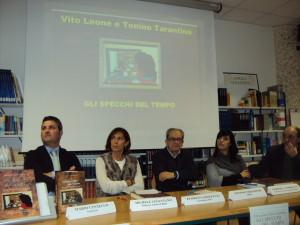 I relatori della presentazione del volume a Bella