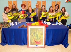 Le relatrici con il sindaco Michele Laurino