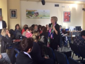 Dianora Bardi con i docenti  a Potenza
