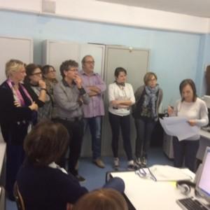 Dianora Bardi in formazione con i docenti di Rionero