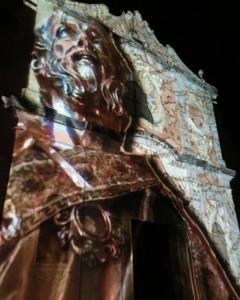Sant'Anselmo sulla facciata della Chiesa Madre (foto C. Buono)