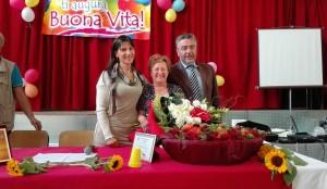 La preside Pinto con i Sindaco Lorenzo e Sperduto