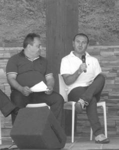 A destra il consigliere comunale Michele Iummati (PD)