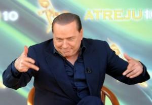 """Berlusconi in una delle sue tante """"scenate"""", che tanto hanno fatto parlare"""