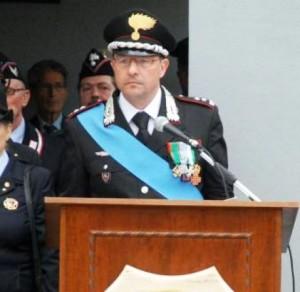 Il colonnello Giuseppe Palma, comandante provinciale dei Carabinieri