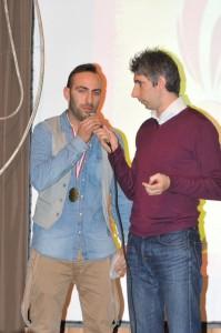 S. Panariello durante la premiazione