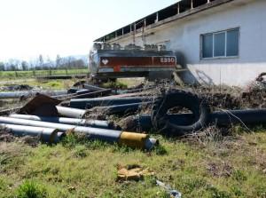 Parte dei rifiuti sequestrati