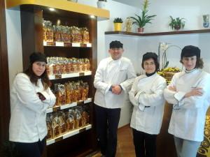 """Da sinistra verso destra: Marialuisa, Enzo, Michela e Antonietta. Gli """"artefici"""" di Colli Veteres"""
