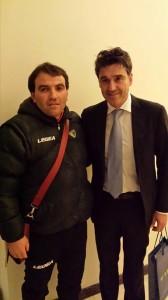 Innocenzo Natiello a Coverciano con l'ex arbitro internazionale Massimo Busacca