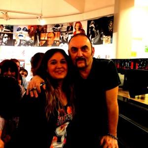 Antonella, collaboratrice di melandronews.it, a Roma con Mango durante la presentazione dell'album il 29 maggio scorso
