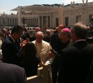Il presidente della Regione Basilicata, Marcello Pittella, da Papa Francesco a Roma