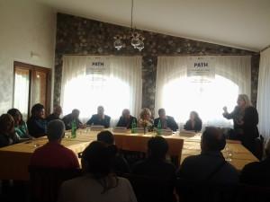 Il tavolo dei relatori di Sirio