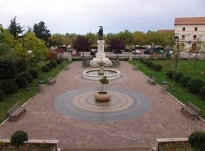 La villa comunale di Pescopagano