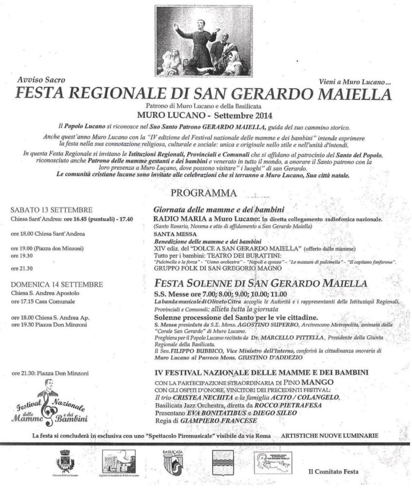 MURO LUCANO - 13 E 14 SETTEMBRE