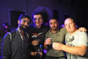Amici: da sinistra verso destra Tommaso, Raffaele (autore del romanzo), Fabio e lo scrivente Claudio. A lui i migliori auguri da parte di tutta la comunità.