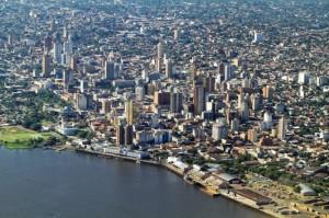 Una veduta di Asuncion, in Paraguay