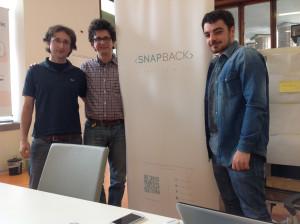 Da sinistra verso destra Capobianco, Morlino e Gerardo Gorga di Snapback