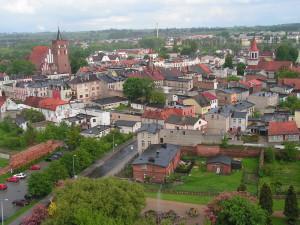 Una veduta di Brodnica, città polacca