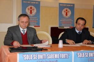 A sinistra Giuseppe Potenza, segretario regionale DC Basilicata