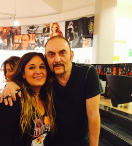 Antonella, collaboratrice di melandronews.it, con Pino Mango durante un evento a Roma