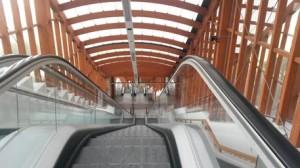 Potenza, interno scale mobili del Ponte attrezzato di Potenza
