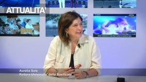 Nell'immagine di TRM TV, Aurelia Sole, Rettore dell'Università della Basilicata
