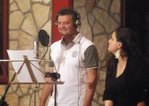 Pino Russo durante una sua esibizione