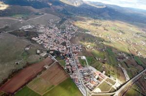 Una veduta aerea di Paterno