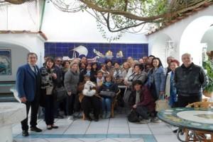 Foto di gruppo durante il gemellaggio Muro-Capri