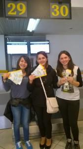Alessia, Arianna e Aurora del Comprensivo di Vietri