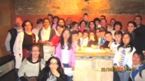 Foto di gruppo durante la visita a Lanciano