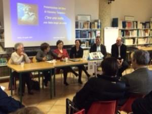 Il tavolo dei relatori alla Bibliomediateca