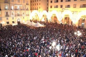 Piazza Mario Pagano l'anno scorso