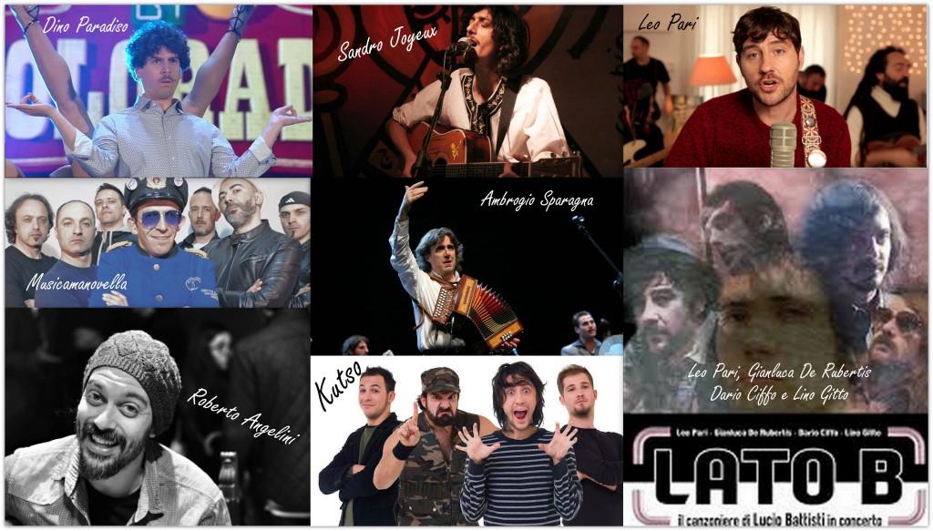 Gli artisti che si alterneranno a Pignola dal 16 al 24 maggio