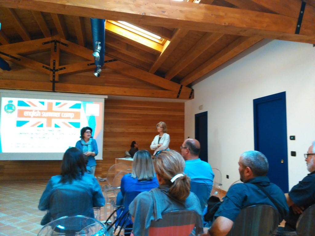 Un momento della presentazione nella Sala Multimediale