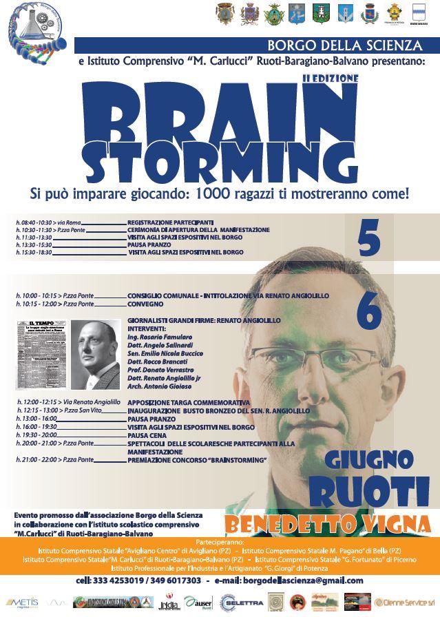 """La locandina della II^ edizione di """"Brainstorming"""""""