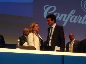 Rosa Gentile col Ministro Martina