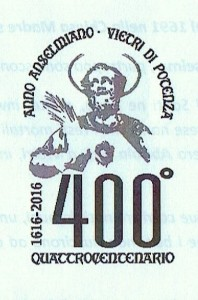 Logo quattrocentesimo anniversario Sant'Anselmo Martire