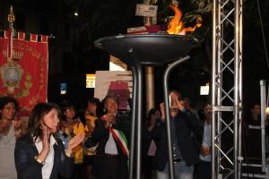 20.8.2015 - Accensione braciere a Muro Lucano