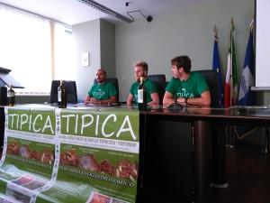 Iuorio, Grande e Di Carlo durante la conferenza stampa di ieri a Potenza