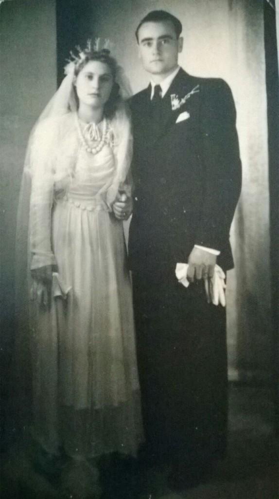 Il giorno del matrimonio: 27.8.1945