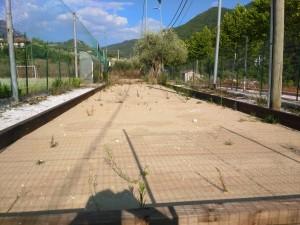 I campi di bocce vicino al campo di calcetto